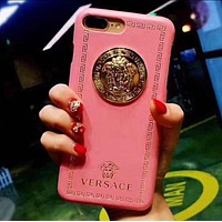 """Versace"" Classic Popular Women Men Personality Hard Mobile Phone Cover Case For iphone 6 6s 6plus 6s-plus 7 7plus iPhone8 iPhone X Pink I/A"