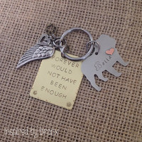 Custom Dog Memorial Keyring, Personalized pet keychain, Pet Keyring, Bulldog, Hand Stamped English Bulldog keychain