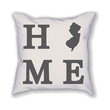 New Jersey Home State Pillow