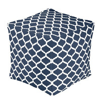 OTTOMAN Pouf, Navy Quatrefoil Nursery Decor, Baby Blanket, Zipper Throw Pillow, Baby Monogram, Matching Nursery Bedding Set, Nursery Rug