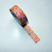 Floral Washi Tape, Pink and Orange
