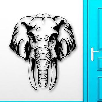 Wall Stickers Vinyl Decal Elephant Animal Hunting Safaris Great Decor Unique Gift (ig1808)