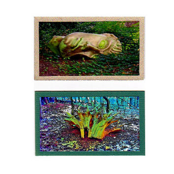 ACEO Miniatures, Woodland Oddities, Surreal Gothic Dark Art,  Set of 2 Virginia Fine Art Prints, Pagan Art