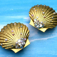 Mermaid Treasure Seashell Plugs - Large Sizes Only - Made To Order