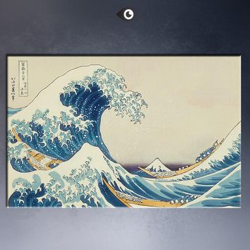 ART POSTER  katsushika hokusai The Great Wave at Kanagawa (from 36 views of Mount Fuji), c.1829 CANVAS print
