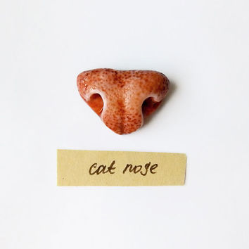 Brooch Cat Nose, animal jewelry, funny jewelry for cat lovers, animal nose brooch, ginger cat jewelry
