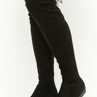 Yoki Faux Suede Over-The-Knee Boots