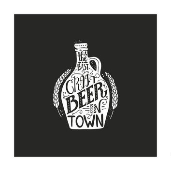 Craft Beer Art Print