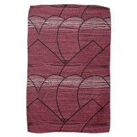 Red Expression Geometric Pattern Hand Towel