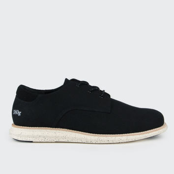 380g Athletic - black linen/black deboss suede