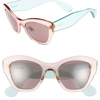 Women's Miu Miu 52mm Cat Eye Sunglasses
