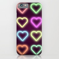 Neon Love iPhone & iPod Case by Dood_L