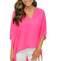 Hi Lights Neon Fuchsia Top