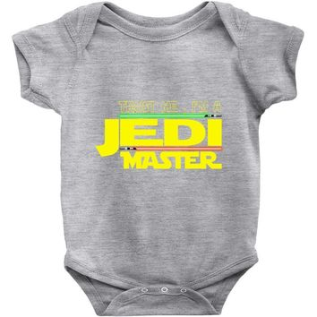 Trust Me , I'm A Jedi Master Baby Onesuit