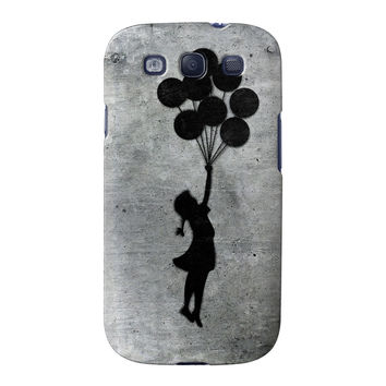 Banksy Balloon Girl Full Wrap High Quality 3D Printed Case for Samsung Galaxy S3
