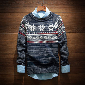 Men's Vintage Comfortable Soft Ethnic Sweater