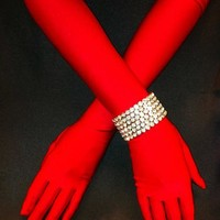 Red Matte Straight Gloves