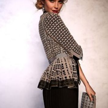Laced Peplum Jacket by Byron Lars