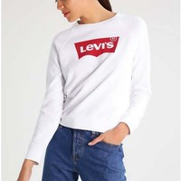 Day-First™ Black LEVI'S Letter Print Sweater Shirt White