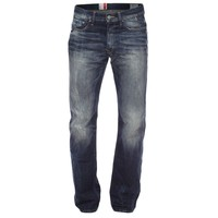 Calça G-Star Raw Straight Rugby Wash Jeans Escuro