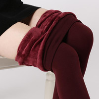 Hot!! Plus Cashmere Women Leggings Casual Winter Warm Faux Jeggings High Elastic Thick Slim Fitness Sport Pants