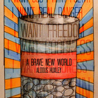 Original book cover design for Brave New World by Aldous Huxley