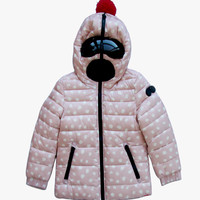 Copy of AI Rider On The Storm Girls Reversible Down Jacket in Pink Pattern/Fuchsia