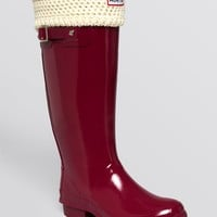 Hunter Welly Socks - Moss Cable | Bloomingdale's