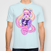 Pastel Goth Usagi (Glasses OFF) T-shirt by Gunkiss