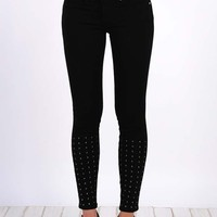 Henry & Belle Studded Super Skinny Ankle - Pitch black