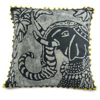 Batik Elephant Pillow