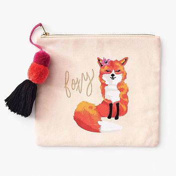 WASTE NOT PAPER FOXY CANVAS POUCH
