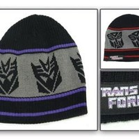 Beanie - Transformers - Autobots Decepti con Black (2 Side, Reversible)
