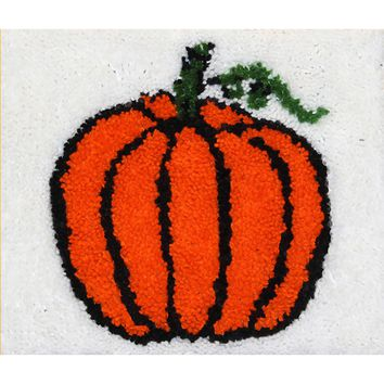 "Pumpkin Latch Hook Kit 16""X13.5"""