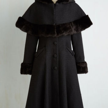50s Long Cape Me Company Coat Size M by ModCloth