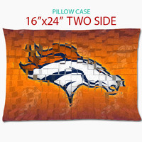 denver broncos football team pillow - pillow case16''x24'' two side