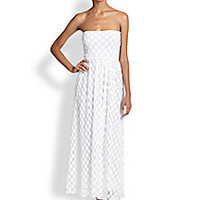 Jean Paul Gaultier - Dot Tulle Bandeau Maxi Dress - Saks Fifth Avenue Mobile