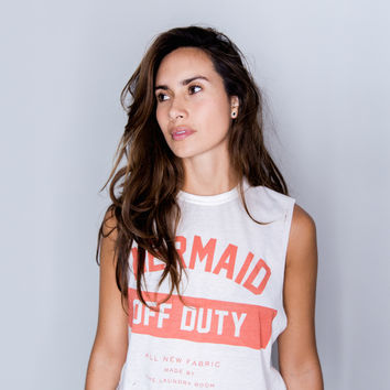 Mermaid Off Duty Muscle The Laundry Room T-Shirt