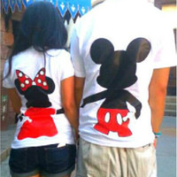 Free Shipping for US Full Body Mickey and Minnie Mouse Single T-Shirt