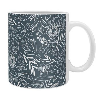 Heather Dutton Botanical Sketchbook Midnight Coffee Mug