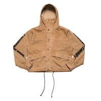 CAMEL DENIM CROPPED PARKA
