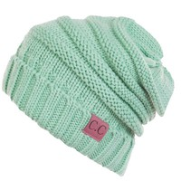 C.C. Exclusives Slouchy Beanie in Mint HAT-100-MINT