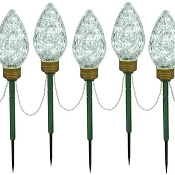Lighted Pathway Markers - 5-color Led Ground Stakes