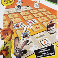 Zootopia Suspect Search Family Board Game Disney