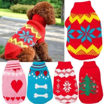 Cute Stylish Comfortable Pet Dog Cat Sweater Clothes Hoodie Knitwear Apparel 3Sizes