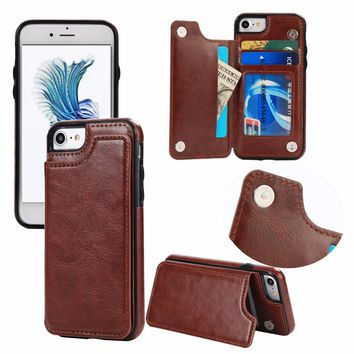 Flip Case for iPhone 6 6s Plus 7 8 Plus X Case Leather Coque Car 4ce98ecfa1