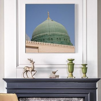 Modern Building Posters and Prints Wall Art Islamic Muslim Mosque Canvas Painting for Living Room Wall Home Decoration Frameless