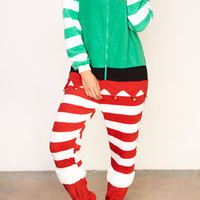 ELF FLEECE ZIP-UP Onesuit - HOLIDAY