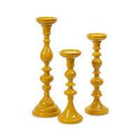 Mellow Yellow Candle Holders