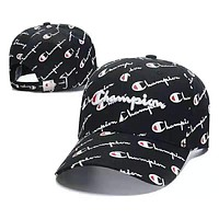 Champion Summer Women Men Embroidery Sports Sun Hat Baseball Cap Hat Black